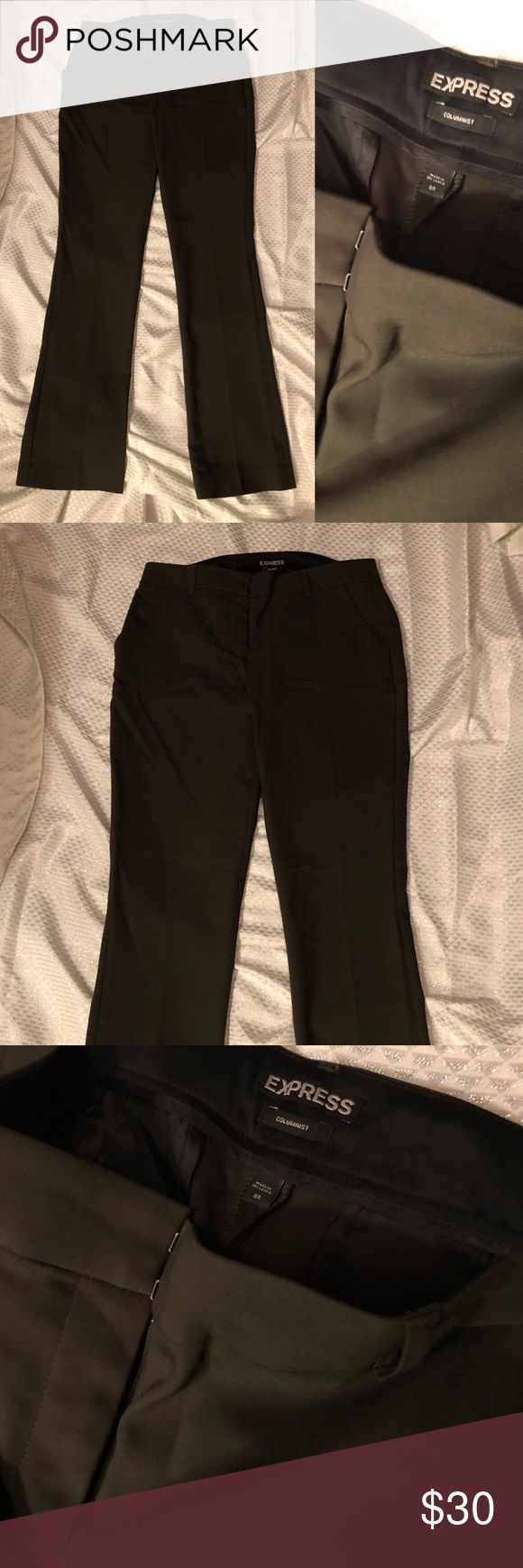 NWOT Express Columnist Army Olive green pants 6 6R NWOT Express Columnist Army Olive green pants 6 6R Express Pants Trousers