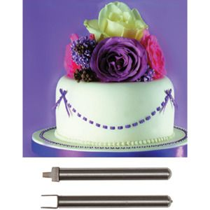 Cake Decorating Ribbon Ideas : Ribbon Insertion Tool Set Cake Decorating tool - Kitchen ...