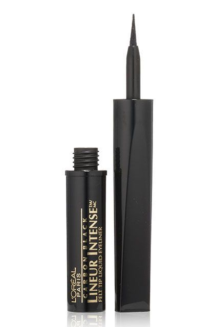 This tried-and-true liquid eyeliner has a super-fine tip making it ideal for tracing cat eyes. Plus, the long-wearing formula doesn't get flaky, even if you head out straight after work. (And stay out past midnight.)   L'Oréal Lineur Intense Felt-Tip Liquid Eyeliner, $8.99, available at Ulta.