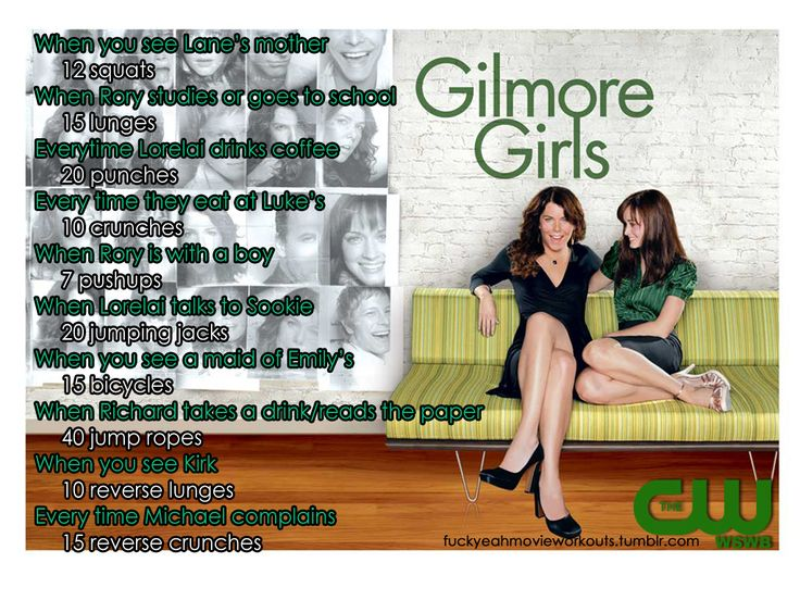 Gilmore Girls workout! Want to see more workouts like this one? Follow ushere.
