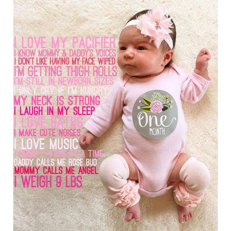 My Vera's one month old baby photo. Made with Phonto! Sticker from Lucy Darling.