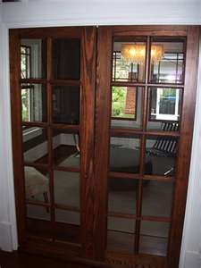 Image Detail for - Vintage pine doors refinished in brown mahogany stain and flat topcoat ...