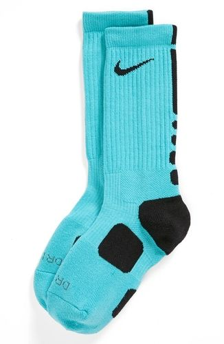 Nike 'Elite Basketball' Crew Socks  Gamma Blue/ Black/ Black Small from Nordstrom on shop.CatalogSpree.com, your personal digital mall.
