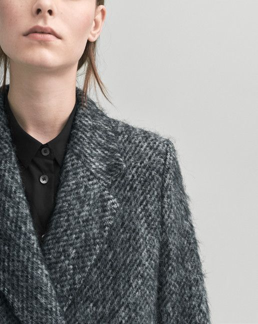 Lauren Mohair Coat Antracite - A Sustainable Choice - Shop Woman - Filippa K