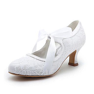 Best Selling Ivory Almond Toe Stiletto Heel Lace with Ribbon Tie Bridal Shoes
