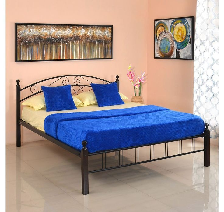 @home by Nilkamal Nimbo Queen Size Bed without Storage (Matte Finish, Black) - Where Can I Buy The Best Furniture