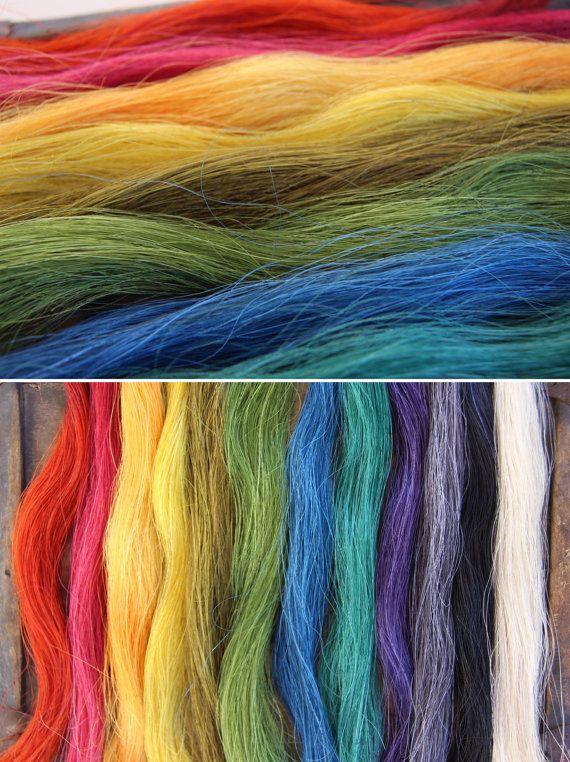 Gefärbt Pferd Haar Fringe Quaste Flechten oder von WomanShopsWorld