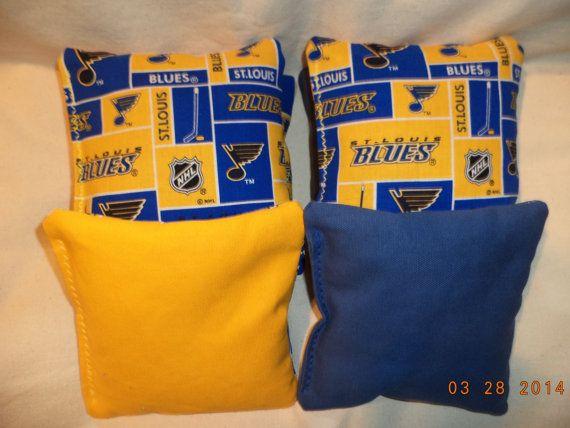 Cornhole bags St Louis Blues NHL Hockey 8 Bean by oddsandends2010, $25.99