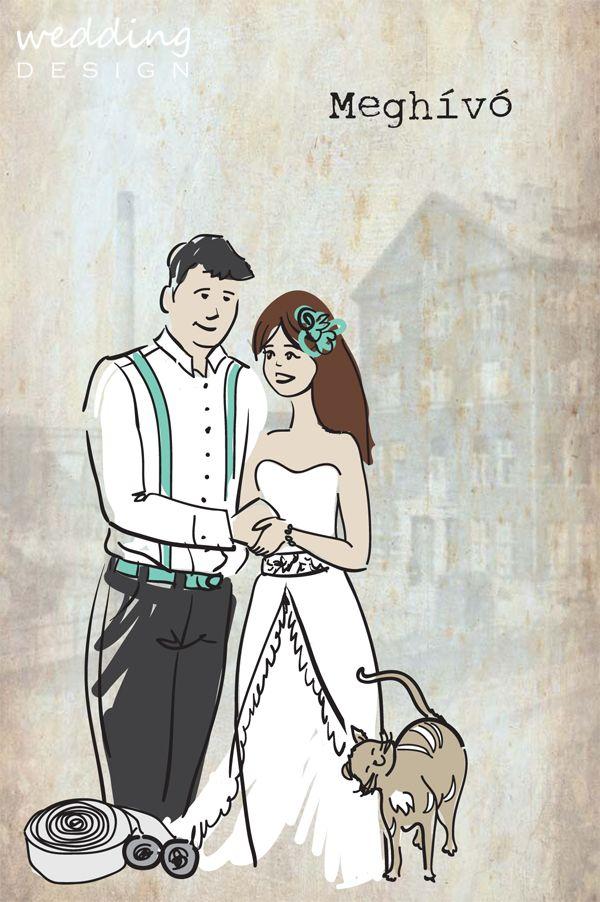 Wedding invitation card - Esküvői meghívó Gpraphic/Grafika: Wedding Design