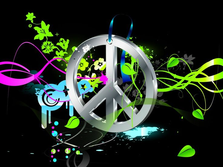peace sign backgrounds free hippie wallpapers image