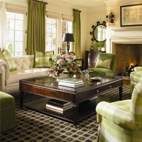 going green decorating ideas for everyone green accentstraditional living roomscurtain - Traditional Living Room Design Ideas