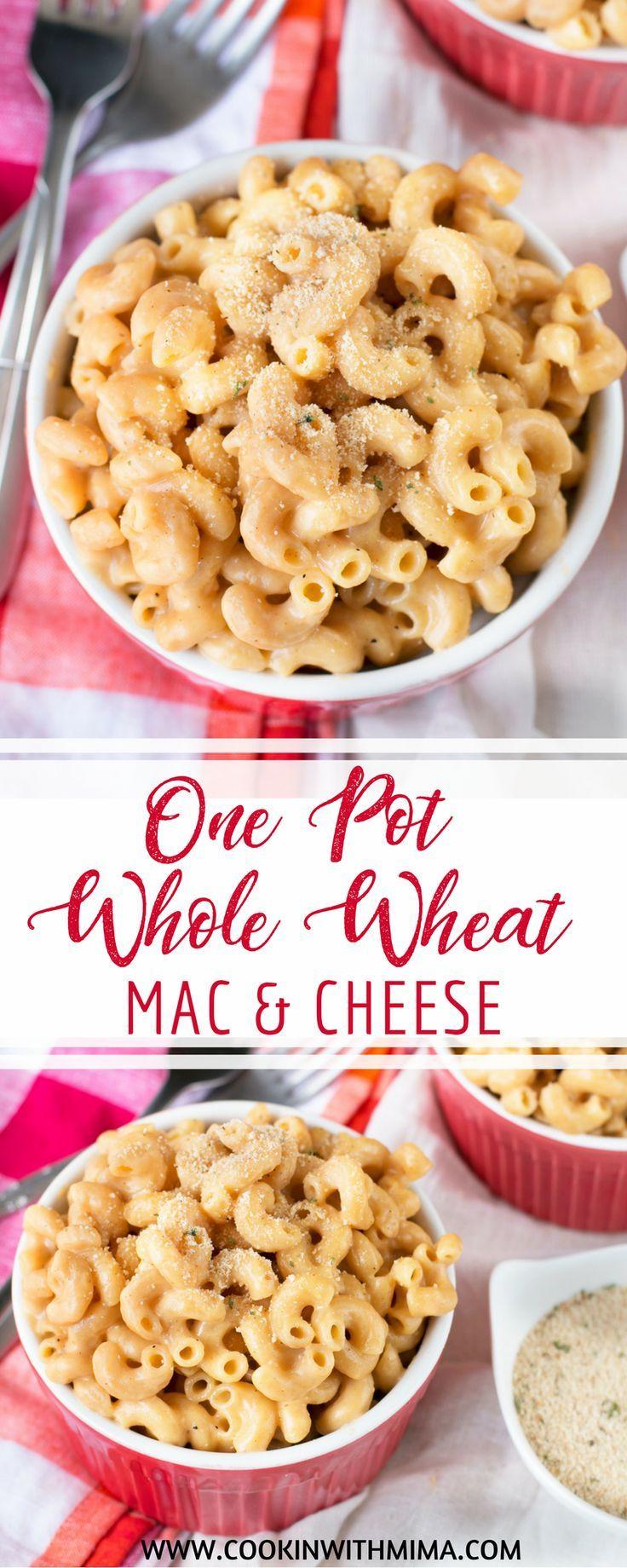 one pot whole wheat macaroni and cheese recipe recipes wheat pasta recipes food pinterest