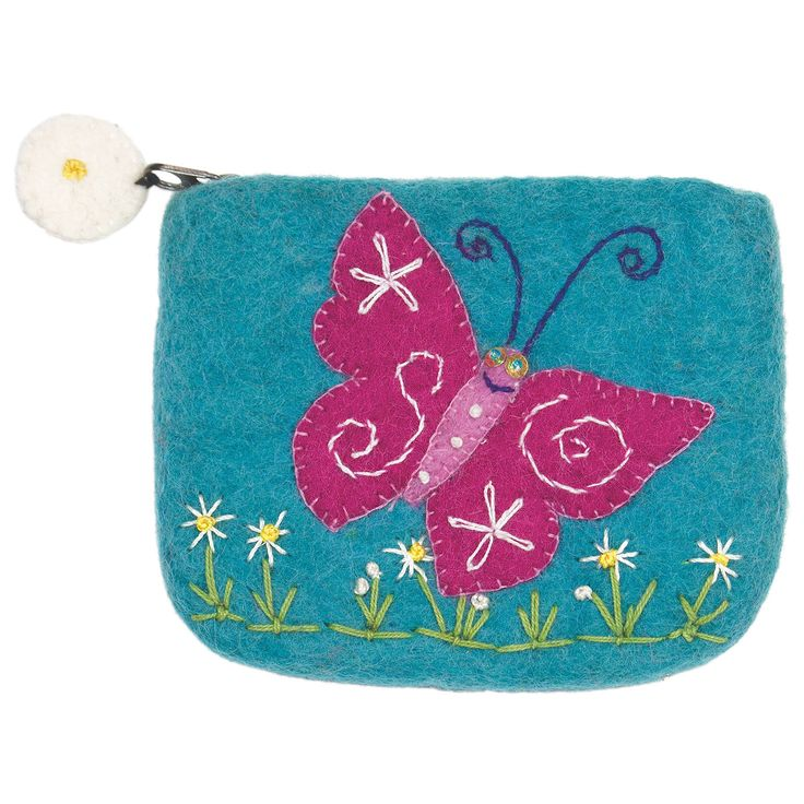 The purse is made with 100% natural wool and non-toxic, azo-free dyes. The hand…