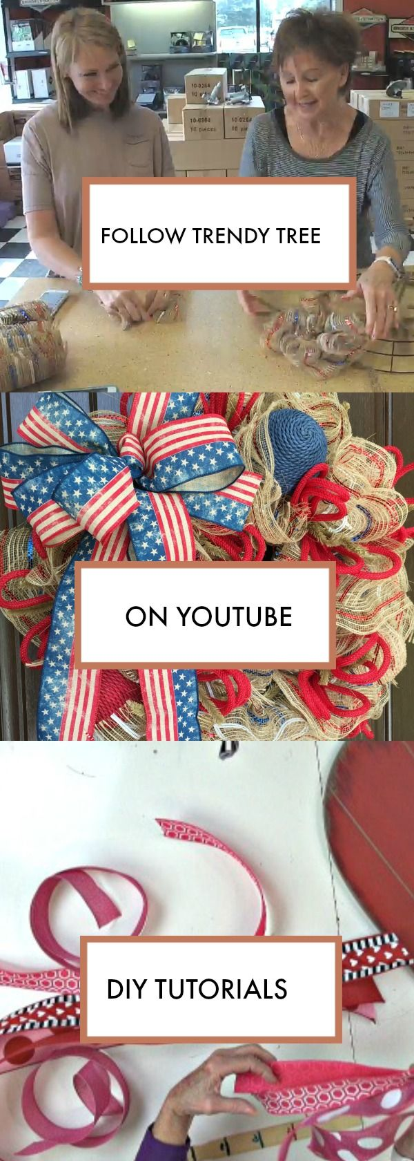 Follow us on Trendy Tree for DIY wreath tutorials and more!