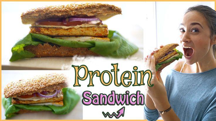 Gesundes Pausenbrot - Mittagessen zum mitnehmen - veganes Sandwich mit v...