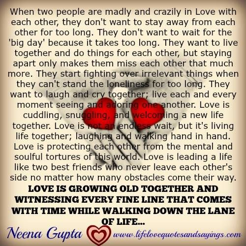 When two people are madly and crazily in Love with each other, they don't want to stay away from each other for too long. They don't want to wait for the 'big day' because it takes too long. They want to live together and do things for each other, but staying apart only makes them...Read More »