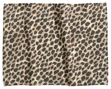 Bath Mat, Leopard Print contemporary bath mats
