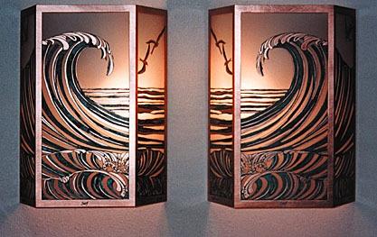 Hawaiian Surf Sconces $330 each