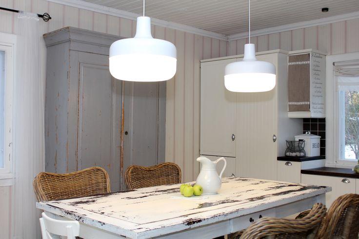 Kitchen view with two Korona Light Pendants