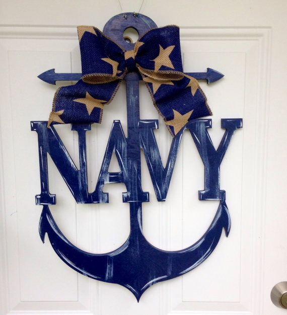 Anchor door hangernavy Anchor door by Furnitureflipalabama on Etsy