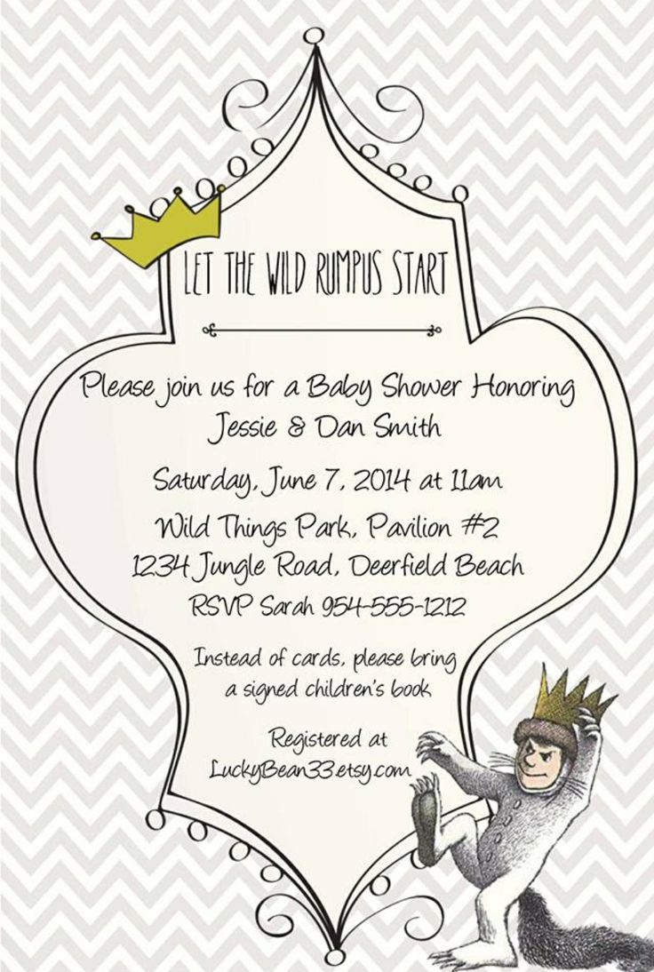 Where The Wild Things Are Invitation Template Www