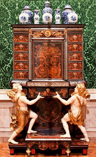 ANDRÉ CHARLES BOULLE~ Cabinet on Stand. One of Boulle's major works, now in the Getty Museum, California