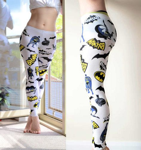 NEW Womens Comic Book Batman super hero Leggings by VixenObscure