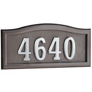 Gaines Address Plaques: Bronze with Nickel Softcurve Address Plaques by Gaines Manufacturing. $109.00. Gaines Address Plaques: Bronze with Nickel Softcurve Address Plaques