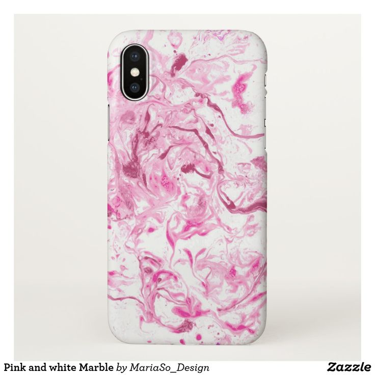 Pink and white Marble iPhone X Case