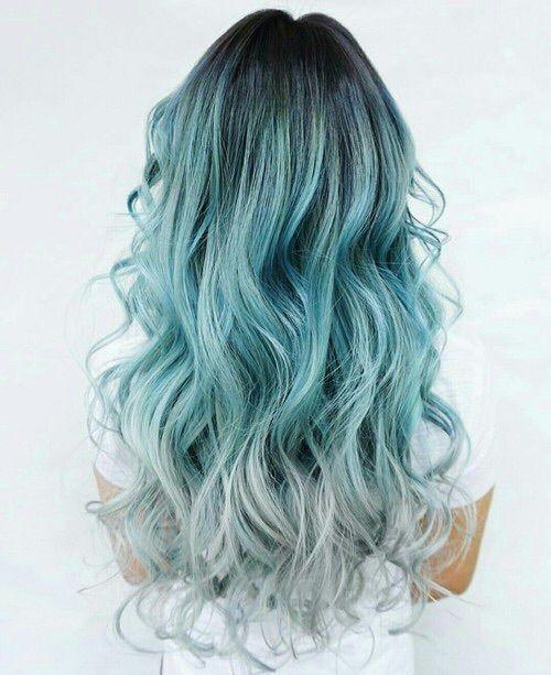 Beautiful, blue mermaid hair!