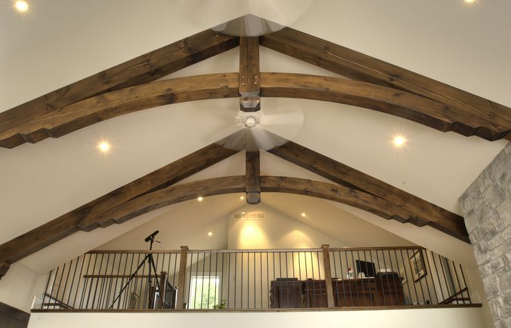 Timber Frame Accent in our Stoney Lake  Home #TimberFrame #Log #Custom #Accent #StoneyLake #DiscoveryDreamHomes