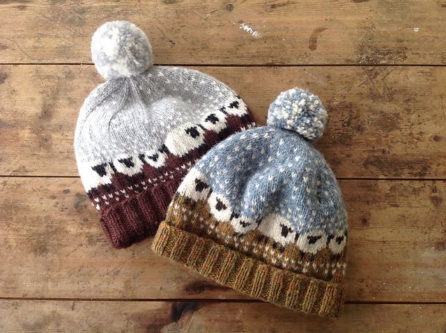 """Baa-ble Hat"" ~ knit pattern by Donna Smith for Shetland Wool Week 2015 