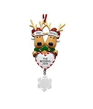 Personalized~*New*– Reindeer Family Ornament Put your whole herd on the tree with our jolly, reindeer-packed ornament. Made of resin. Personalize 2 to 6 reindeer with names up to 9 characters each, 1-2 line message up to 12 characters each and numeric year up to 4 digits. http://kittykatkoutique.com/all-new-personalized-christmas-ornaments-2015/