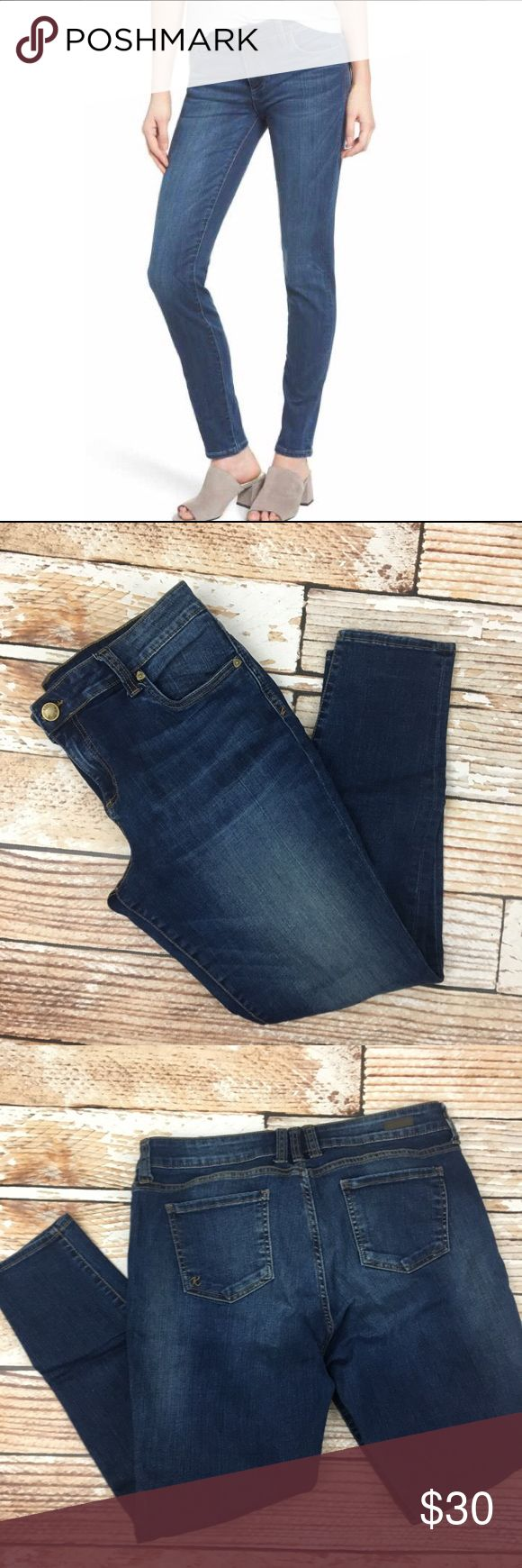 """KUT from the Kloth toothpick skinny jeans KUT from the Kloth toothpick skinny jeans size 14 petite  🌵Bundle deals available. I carry various sizes/brands. 🌵No trades, holds, or modeling. 🌵All reasonable offers accepted only through """"offer"""" button. No lowball offers please. Please submit final offer willing to pay as I prefer to not counteroffer. 🌵Happy Poshing! Kut from the Kloth Jeans Skinny"""
