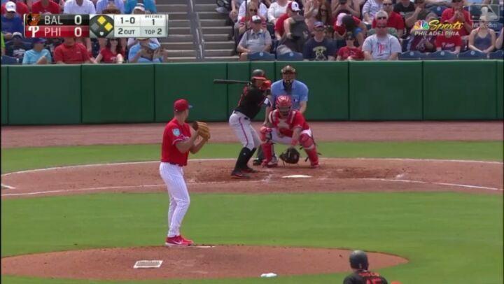 Luis Sardiñas (@thesardisardi) conectó doblete remolcador de una carrera en juego juegos donde los @phillies terminarían venciendo 9x6 a los @orioles  SS - 2B L.Sardiñas: 4-2 / 2B (1) / 1RBI (1) / AVG .500  #Venezuela #Venezuela_Baseball #aquisehablabeisbol #MLB #Season #Baseball #Beisbol #latinoamerica #SpringTraining2018 #Baltimore #Orioles #BaltimoreOrioles #USA #Baseball #Beisbol #Sport #Deportes #Vinotinto