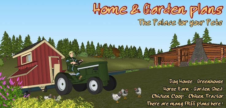 Home & Garden Plans: The palace for your pets ~ Providing both free, and for purchase, design plans for chicken coops, dog houses, garden sheds, furniture, horse barns, feeders, bird houses, farm stands, out houses and more | homegardendesignplan.com