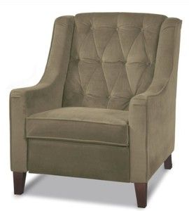 Avenue Six Curves Tufted Chair. Coffee Fabric
