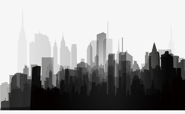 Black And White City Silhouette City Clipart Black And White City Png Transparent Clipart Image And Psd File For Free Download City Silhouette Black And White City Architecture Background