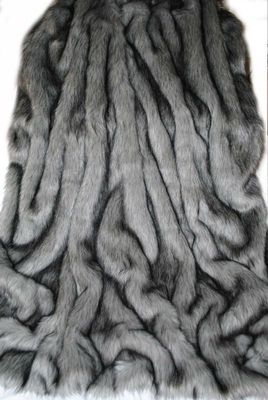 Exquisite Silver Fox Faux Fur Throw Blanket Limited Edition Very Soft Large