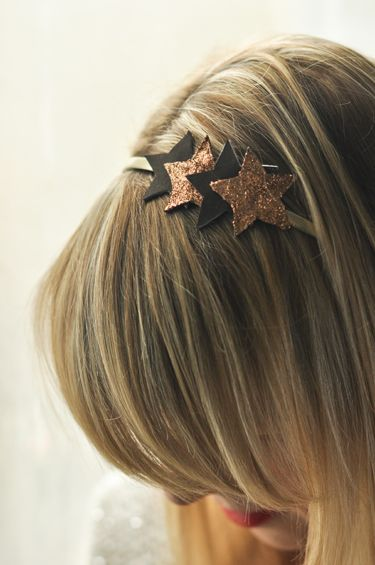 DIY Leather glittered headband