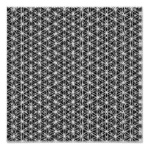 Flower Of Life Intricate Weave #6 Poster