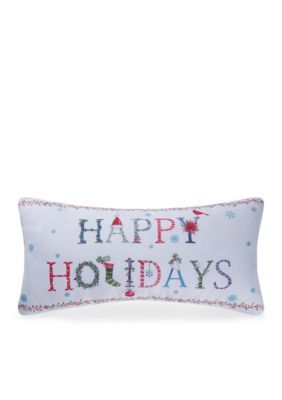 C&F  Happy Holidays Indoor/Outdoor Pillow - Mult - One Size