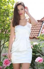 White Dress with Fan Bodice