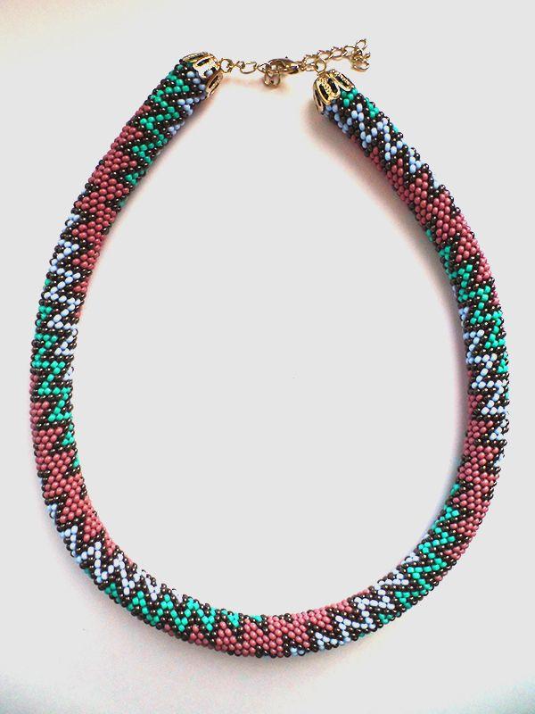 Schema from Lbeads - Rope crochet 14 around. #Seed #Bead #Tutorials