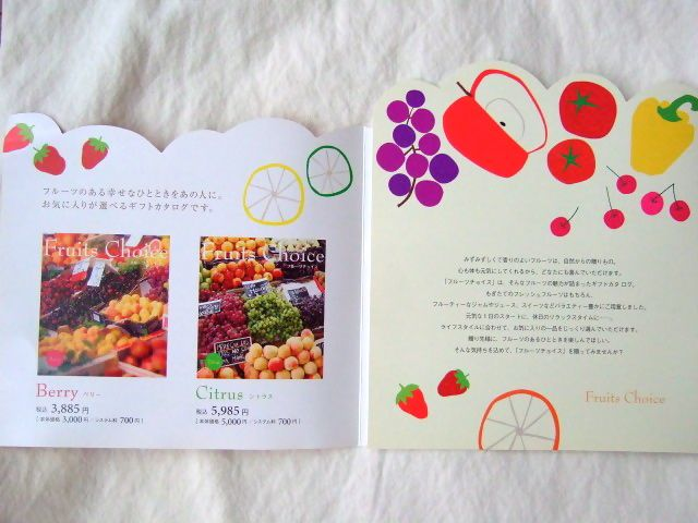 フルーツのギフト「antina – Fruits Choice -」のリーフレット