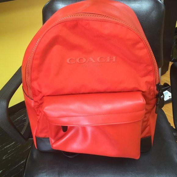 Coach Back Pack Leather coach book back, multi compartment, Burt orange (color) Coach Bags Backpacks