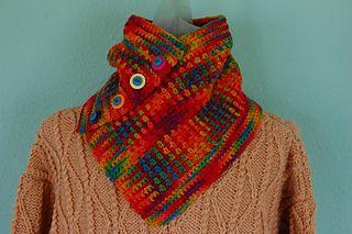 Crochet Roy G. Biv cowl in Mountain Meadow Wool Cody