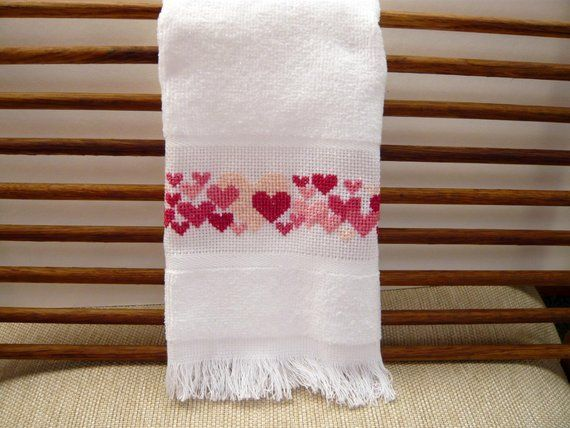 14 count Cross Stitch Finger Hand Towels