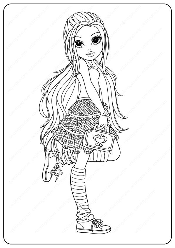 - Printable New Moxie Girlz Coloring Pages In 2020 Coloring Pages, Coloring  Pages For Girls, Coloring Books