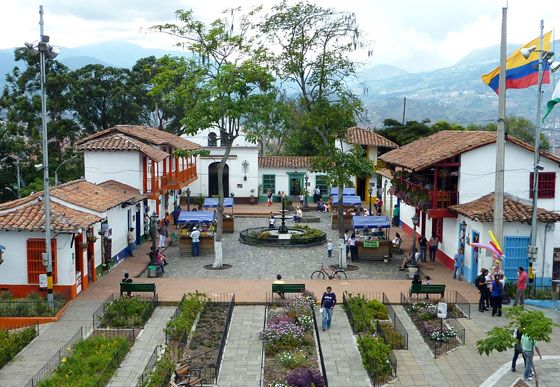 Pueblito Paisa - a mock up of a typical Antioquenan town in Medellin.